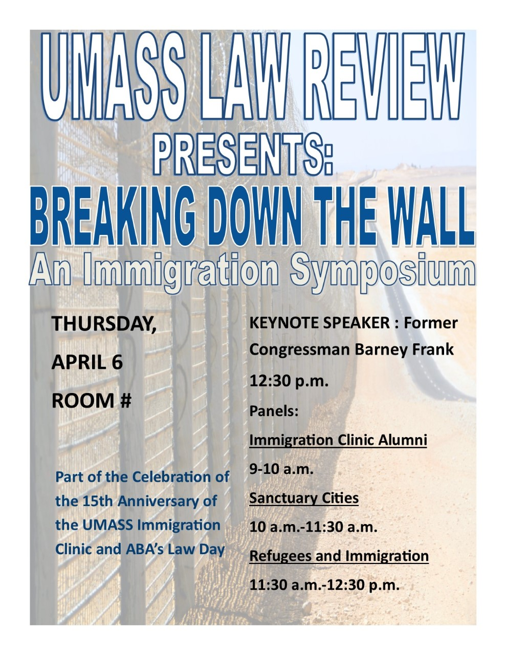 UMass Law Review Hosts an Immigration Law Symposium